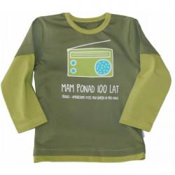 Dětské chlapecké tričko s dlouhým rukávem zelené