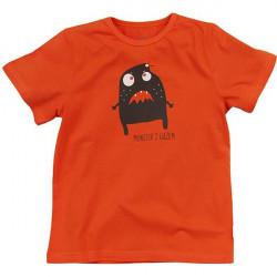 Dětské chlapecké tričko s krátkým rukávem oranžové
