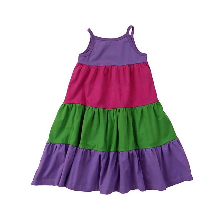 Dětské šaty na ramínka ENTENTINO- fialové 080be3e66e