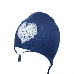 Modrá kojenecká čepice na zavazování Yo! Cute
