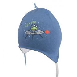 Modrá kojenecká čepice na zavazování Yo! Gwidon
