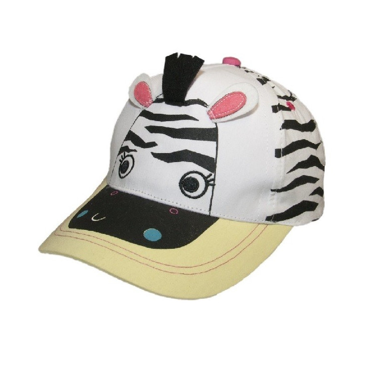 Dětská dívčí kšiltovka Yo! Zebra - žlutá