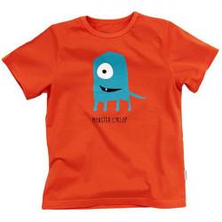 Dětské tričko s krátkým rukávem oranžové