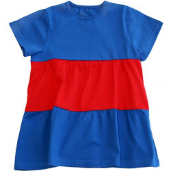 Dětská tunika s krátkým rukávem modrá