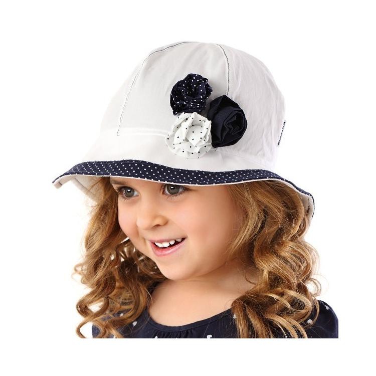 Dětský letní klobouček Kate - modrý