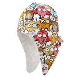 Dětská podzimní čepice Minky Owl