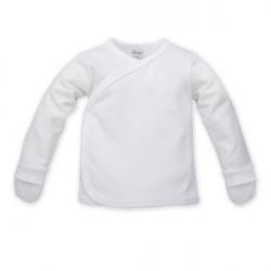 Kojenecká košilka s ohrnovacími rukavičkami White