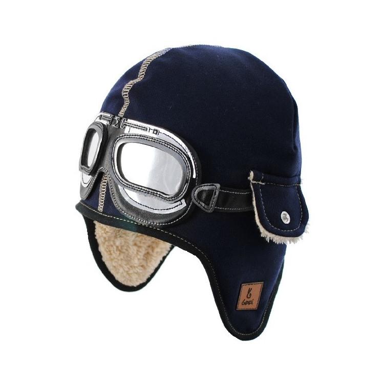 Dětská zimní čepice- pilotka Dekster Blue
