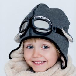 Dětská zimní čepice- pilotka Dekster II