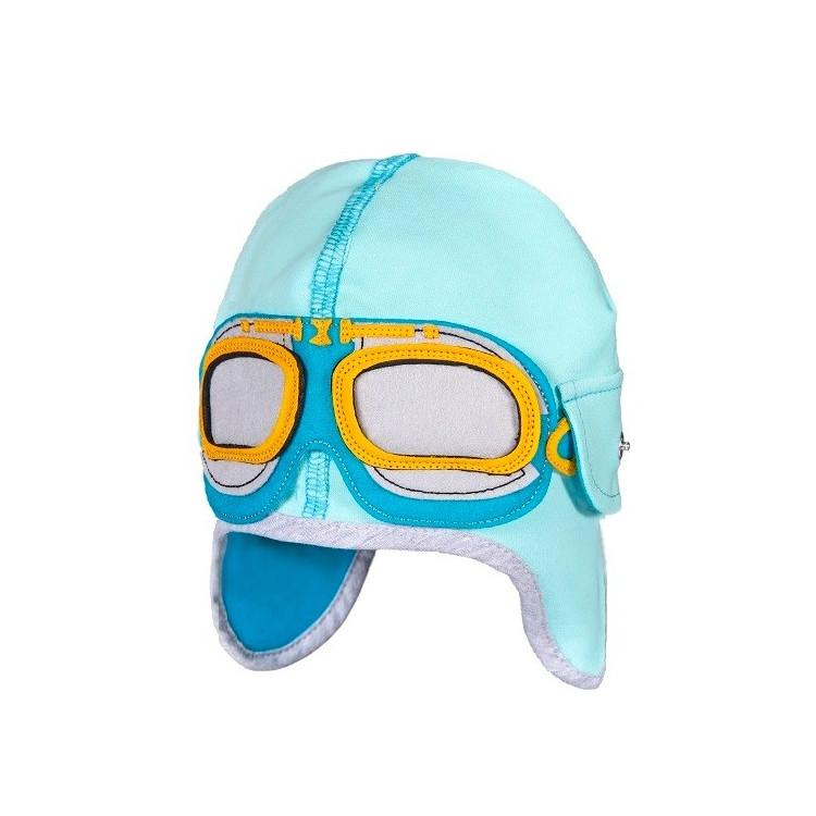 Dětská čepice-pilotka Dekster Aqua