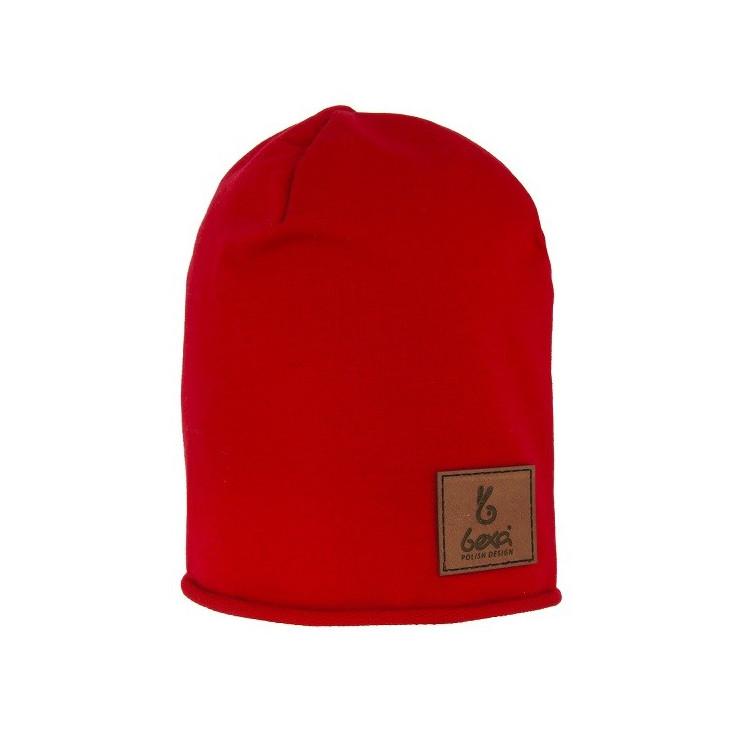 Dětská prodloužená čepice Mati- červená