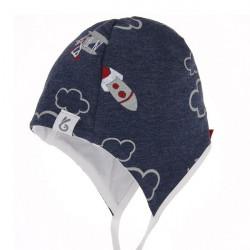 Kojenecká čepice na zavazování Boy