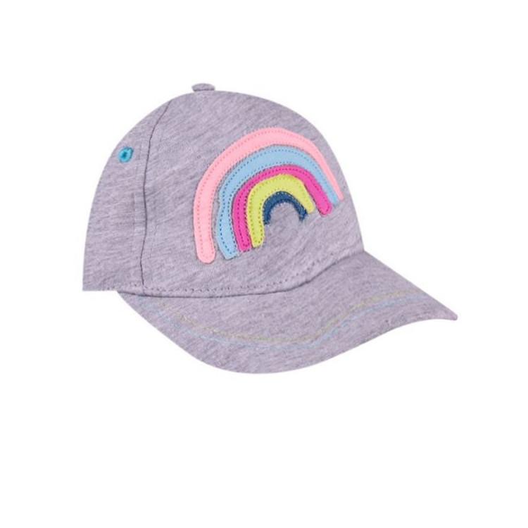 Dětská dívčí kšiltovka Yo! Rainbow Colors - šedá