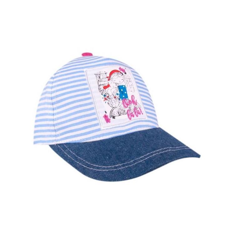 Dětská dívčí kšiltovka Yo! Blue Stripes - světle modrá