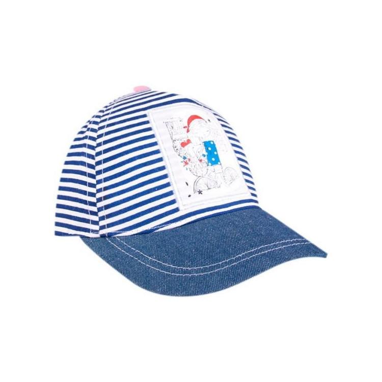 Dětská dívčí kšiltovka Yo! Blue Stripes - modrá
