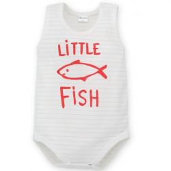 Kojenecké body bez rukávů Pinokio Little Fish