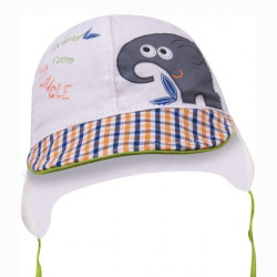 Letní kojenecká čepice na zavazování Yo Elephant 2
