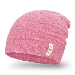 Dívčí melírovaná čepice PaMaMi růžová