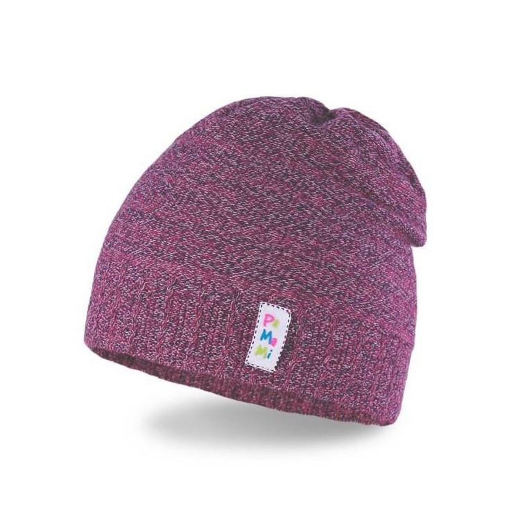 Dívčí melírovaná čepice PaMaMi šedo-fialová