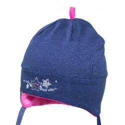 Dívčí kojenecká čepice na zavazování Yo! Little Star- modrá