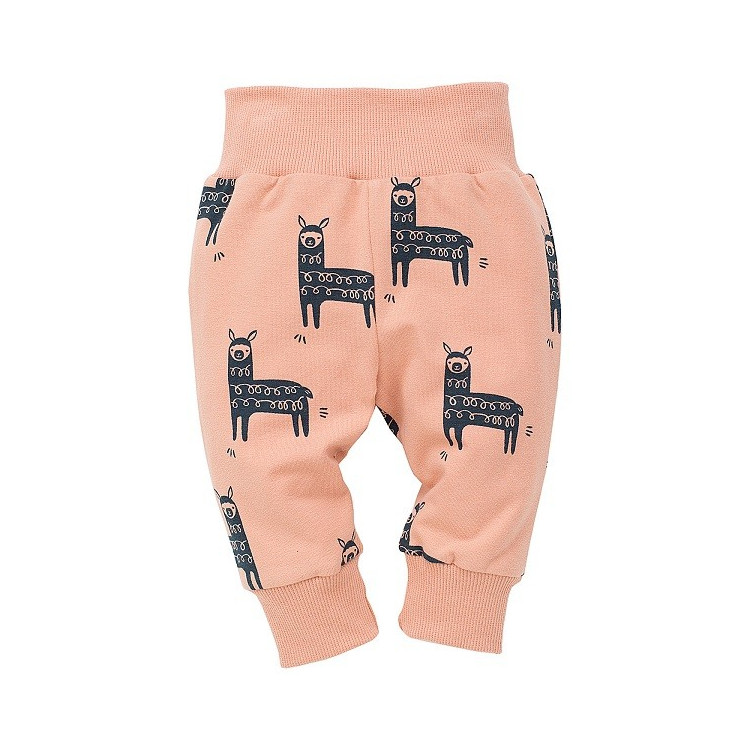 Kojenecké kalhoty Pinokio Happy LLama - lososové