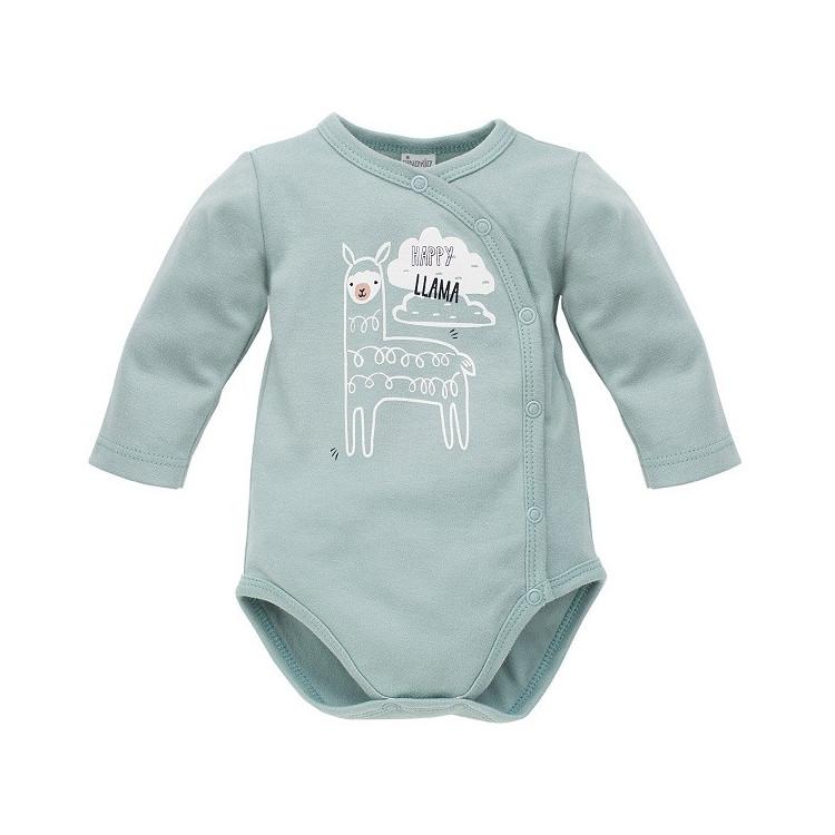 Zavinovací kojenecké body Pinokio Happy Llama- mátově zelené