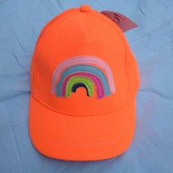 Dívčí kšiltovka Yo! Rainbow Colors - neonově oranžová