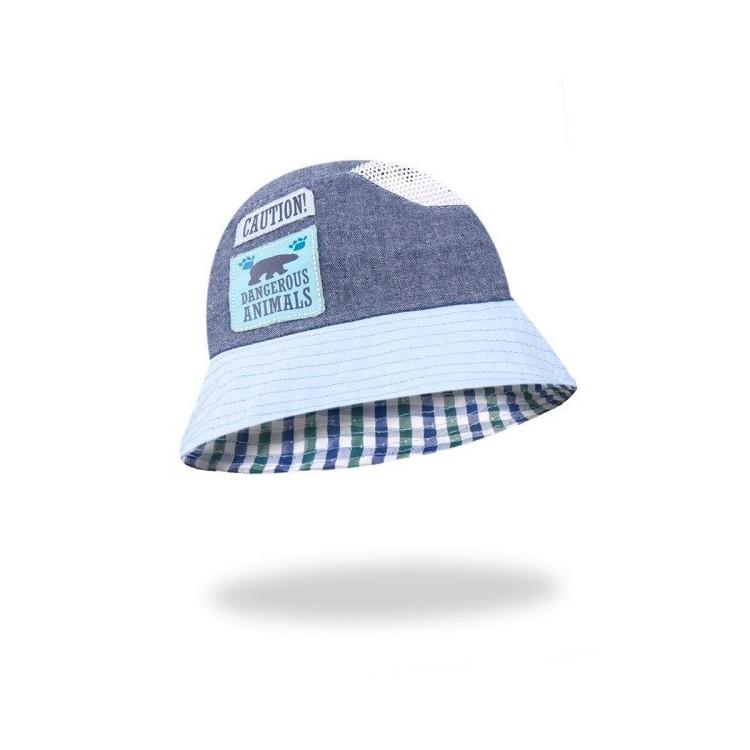 Chlapecký letní klobouček Yo! Caution - šedý