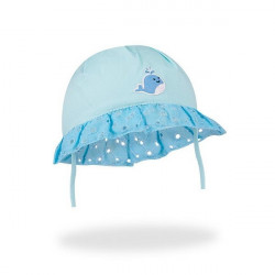 Letní kojenecký klobouček Yo! Lace in Flowers - modrý