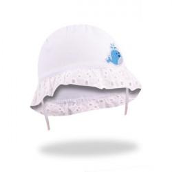 Letní kojenecký klobouček Yo! Lace in Flowers - bílý