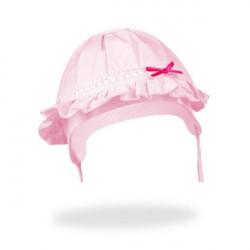 Letní kojenecká čepice na zavazování Yo! Bow - růžová