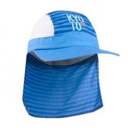 Chlapecký letní šátek na hlavu s prodlouženým zátylkem Yo! Kyo To - modrý