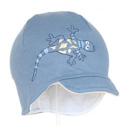 Dětská chlapecká čepice s kšiltem Pupill Eco - modrá
