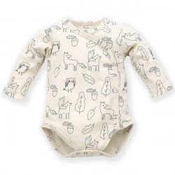 Zavinovací kojenecké body s potiskem Pinokio Secret Forest
