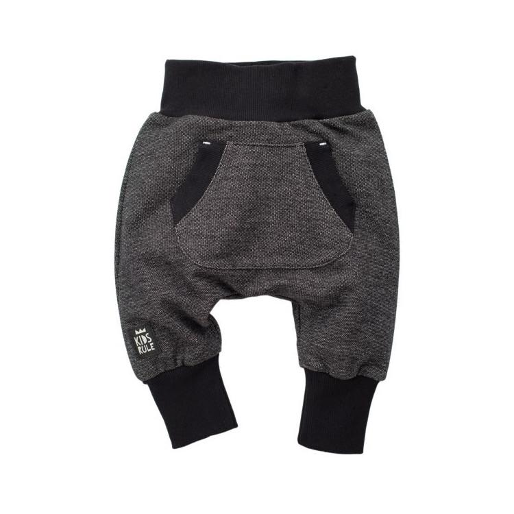 Dětské kalhoty se sníženým sedem Happy day