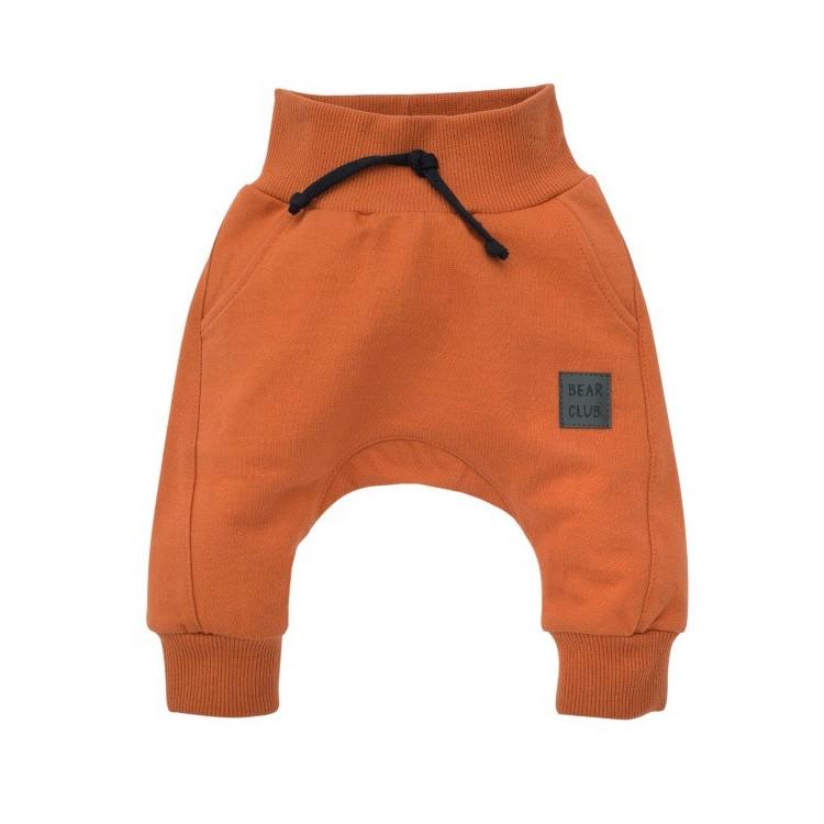 Kojenecké kalhoty se sníženým sedem Pinokio Bears Club - hnědé