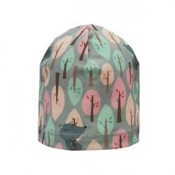Dívčí čepice Bexa Pastelový les - šedá