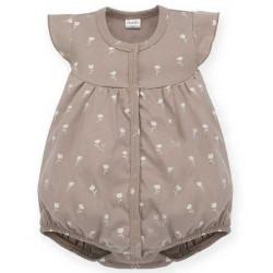 Letní kojenecký overal Pinokio Tiny Flowes- hnědý