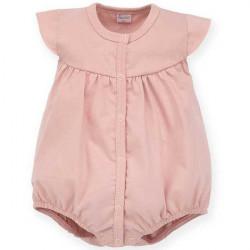 Letní kojenecký overal Pinokio Tiny Flowes- růžový