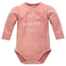 Zavinovací kojenecké body Pinokio Spring Light - růžové