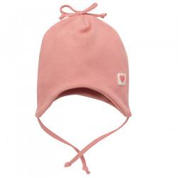 Kojenecká čepice na zavazování Pinokio Spring Light - růžová