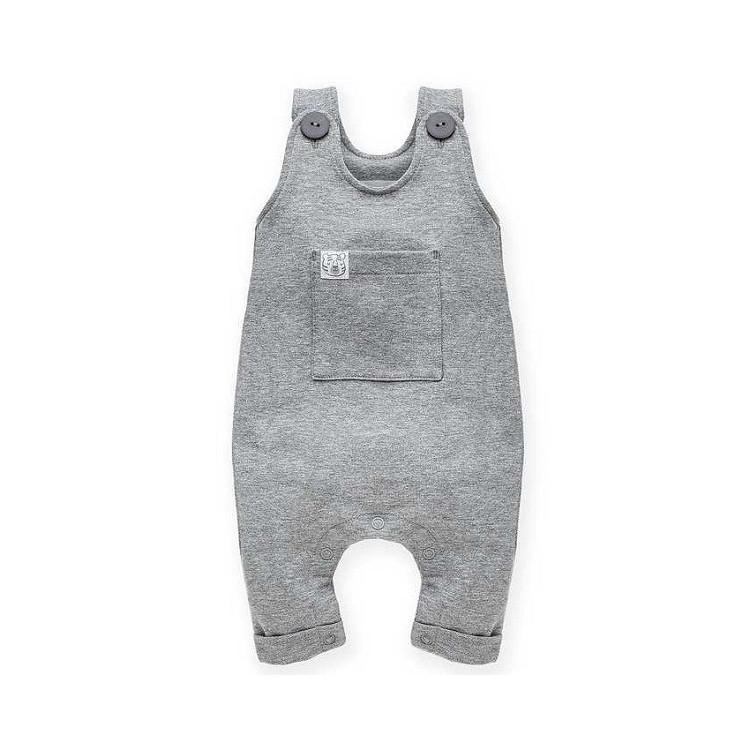 Kojenecké kalhoty s laclem Pinokio Wild Animals - šedé