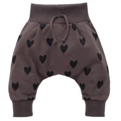 Kalhoty se sníženým sedem Pinokio Little Bird - hnědé
