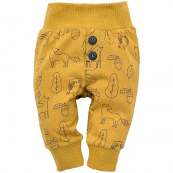 Kojenecké kalhoty Pinokio Secret Forest - hnědé