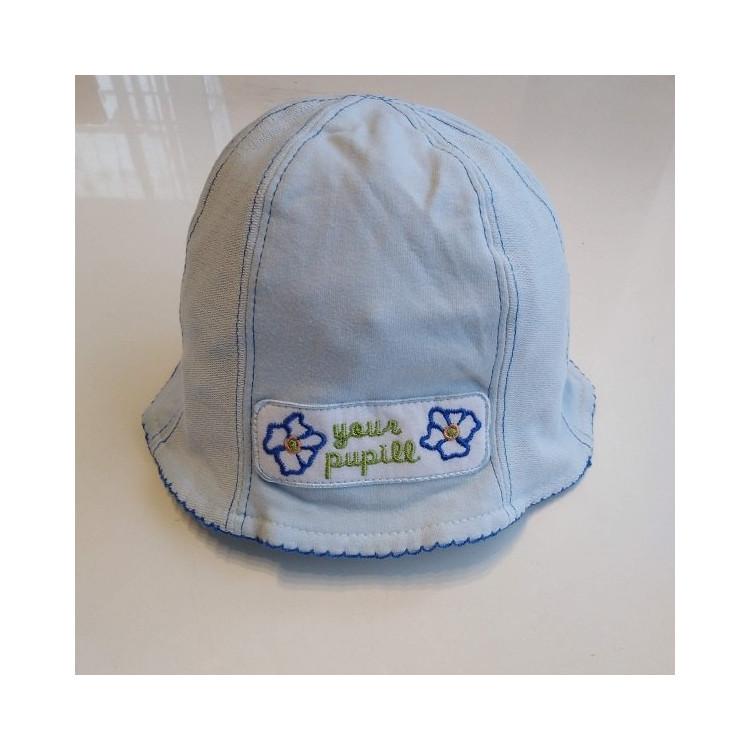 Podzimní kojenecký klobouček Marika- modrý