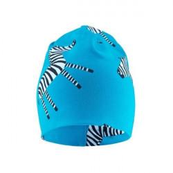 Kojenecká čepice Zebra - světle modrá