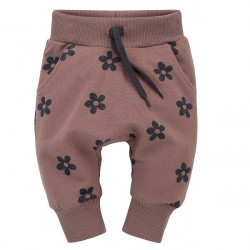 Kojenecké kalhoty se sníženým sedem Pinokio Happiness - hnědé