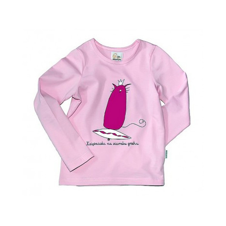 Růžové dívčí tričko s dlouhým rukávem ENTENTINO